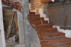 Escalier sur voute sarrasine en Ardèche 030